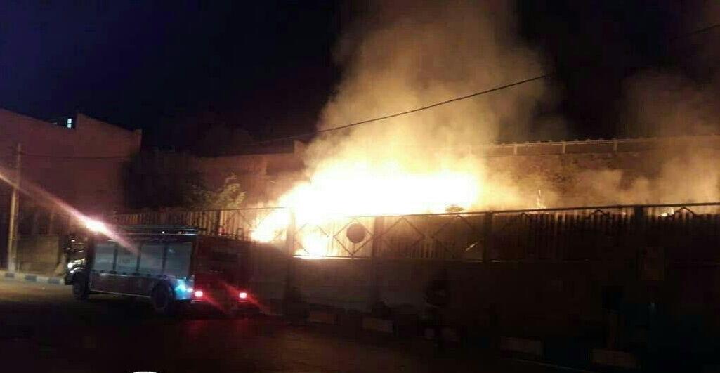 خبرنگاران آتش سوزی به کلیسای محوطه هگمتانه همدان آسیبی نرساند