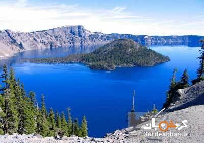 دریاچه کراتر؛ دریاچه ای آتشفشانی روی کوه