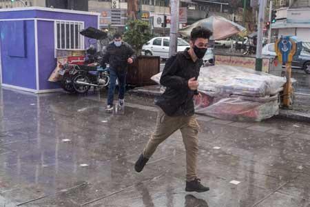 رگبار و وزش باد شدید در بیشتر نقاط ایران